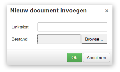document-dialoog