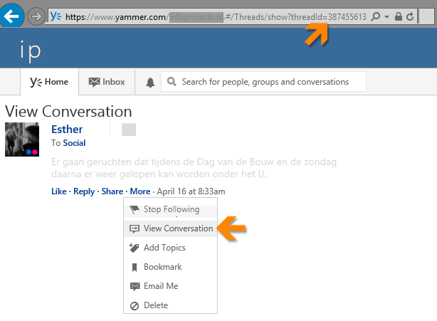 Yammer-topic-ID